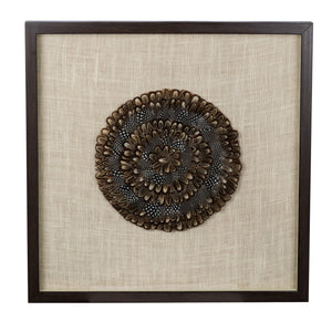 AB-AV43681 Feather Medallion Wall Art