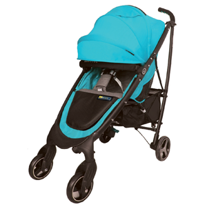 Bonbebe Freestar Stroller W/Cup Holder, Bumper Bar, Head Hugger & Shoulder Pad-Blue