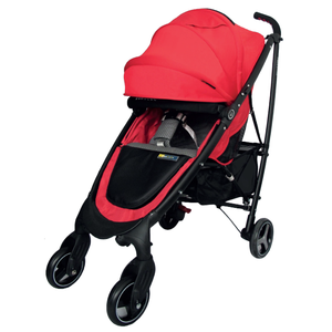 Bonbebe Freestar Stroller W/Cup Holder, Bumper Bar, Head Hugger, Shoulder Pad-Red