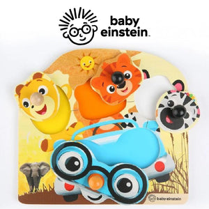 Baby Einstein HAPE Friendly Safari Faces Wooden Puzzle BE11654