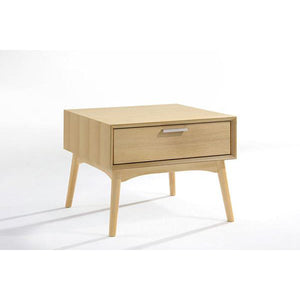 Barbara Side Table with White Oak Veneer - Picket&Rail Singapore's Premium Furniture Retailer