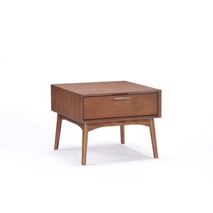 Barbara Side Table with Ash Veneer - Picket&Rail Singapore's Premium Furniture Retailer