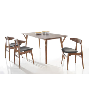 BARBARA 1.4m Dining Table + 4 Dining Chairs (Walnut)