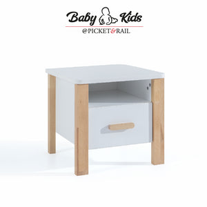 CASTLE 1-Drawer Bedside Nightstand Table MH-1231