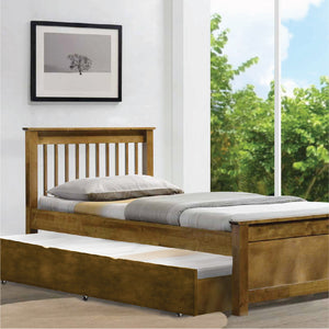 Americana Solid Wood Single Bed with Trundle - Picket&Rail Singapore's Premium Furniture Retailer