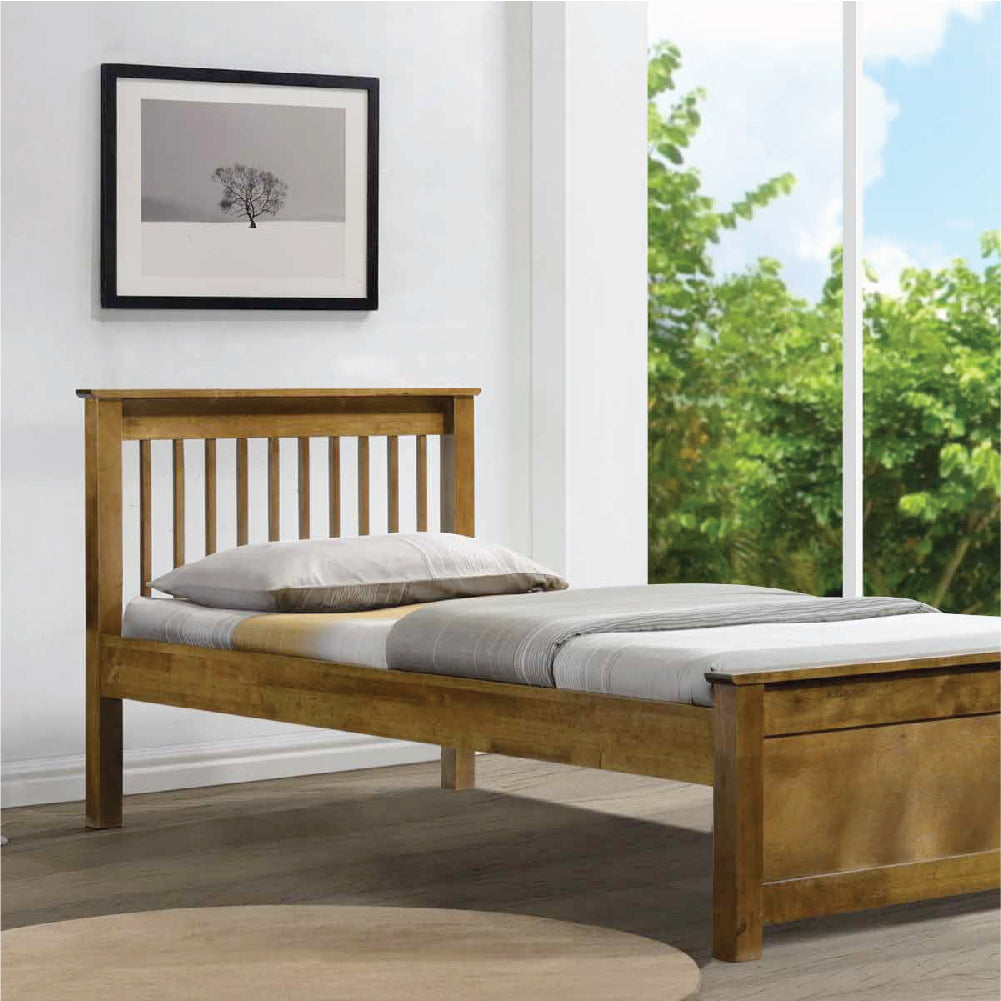 Americana Solid Wood Super Single Bed Picket Rail Singapore S No 1 Premium Solid Wood Furniture Custom Lifestyle Retailer