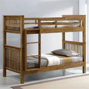 AMERICANA Solid Wood Single Bunk Bed - Picket&Rail Singapore's Premium Furniture Retailer
