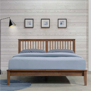 MISSION XII Solid Wood Queen Bed - Picket&Rail Singapore's Premium Furniture Retailer