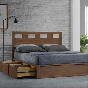 ASHTON Solid Wood Queen Storage Bed - Picket&Rail Singapore's Premium Furniture Retailer