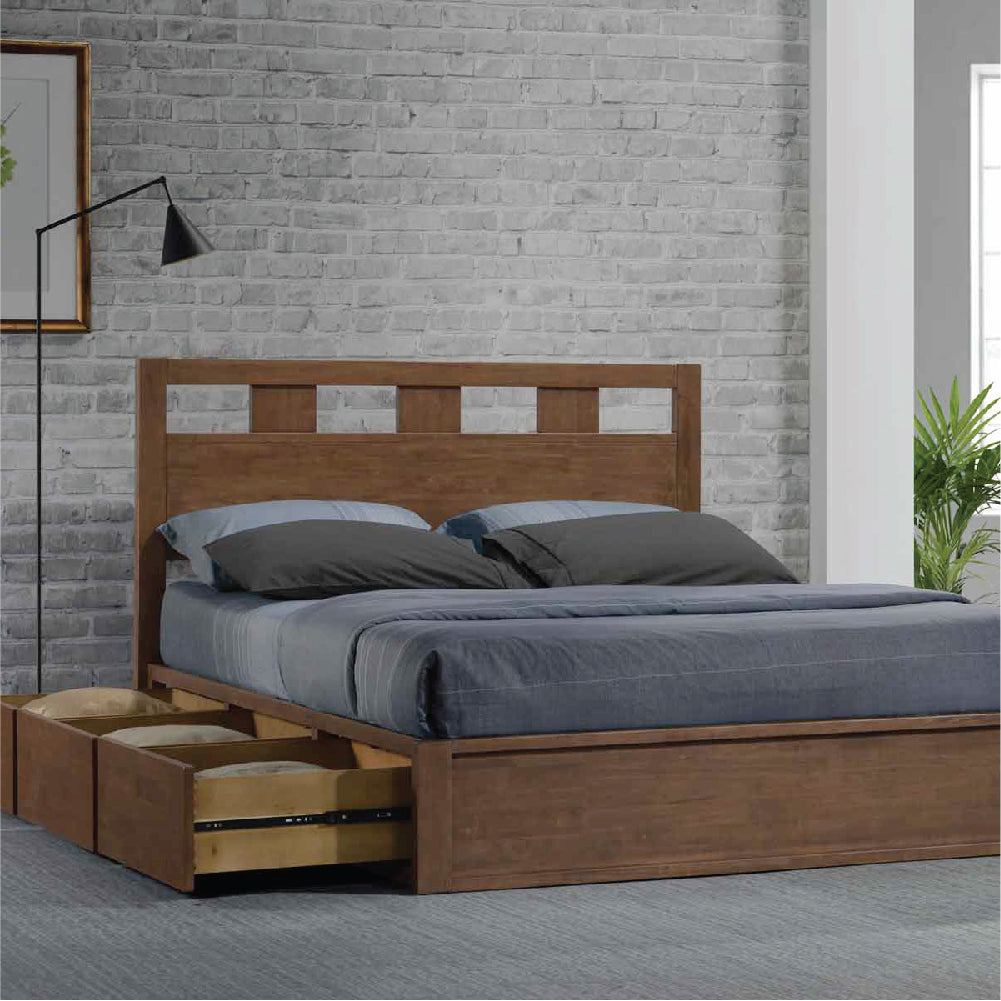 Solid Wood Storage Beds w/ Anti-Microbial Properties