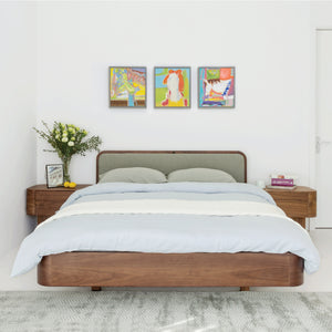 Sean Dix Wooden Streamline Bed (SD15217A/B) - Picket&Rail Singapore's Premium Furniture Retailer