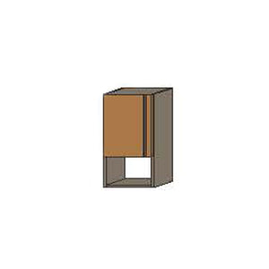 NORYA One-Door Hanging Cabinet with Grey Carcass in American Black Walnut KCE3102