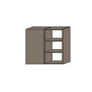 NORYA  Two-Door Hanging Cabinet with Grey Carcass in American Black Walnut KCE3211