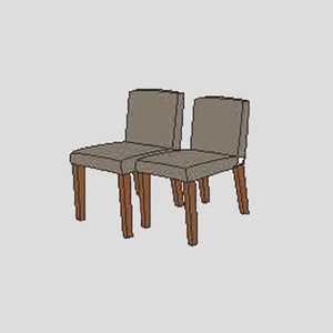 NORYA Dining Chairs (0.4m) in American Black Walnut K6Z65-Q - Picket&Rail