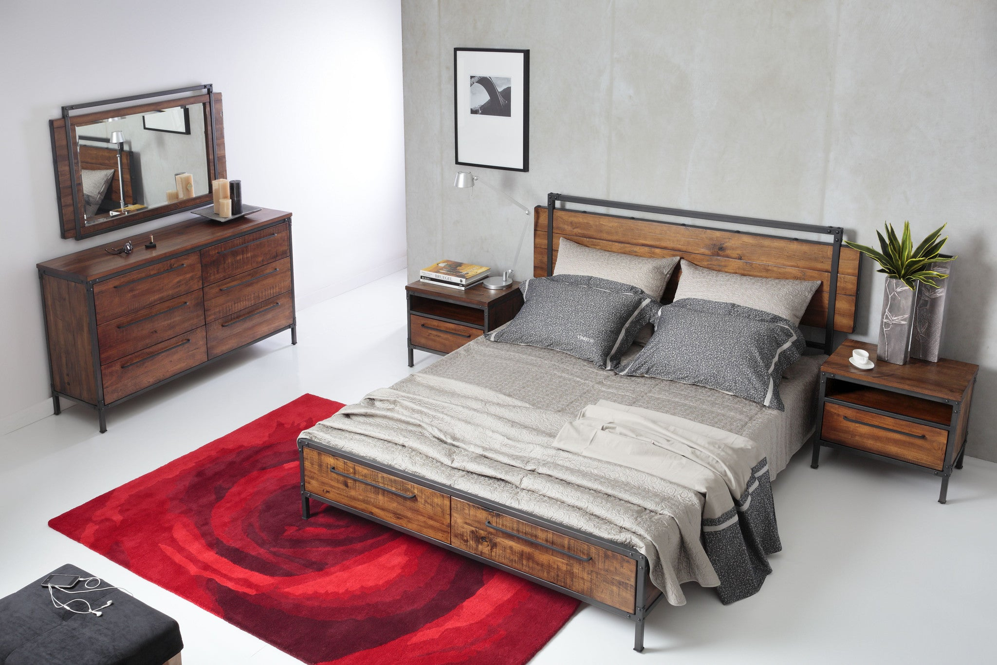 Chicago Queen Bed With Drawers Picket Amp Rail Singapore S