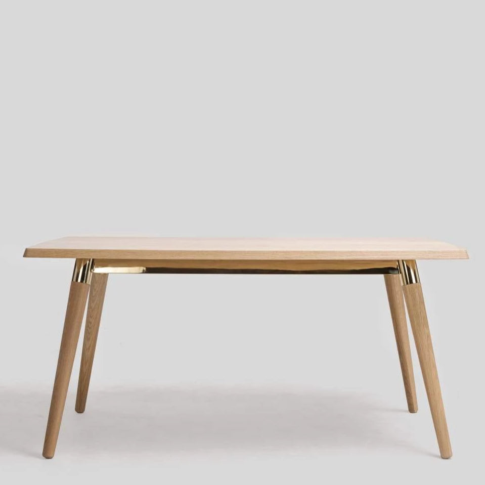 COPINE 1.8m Dining Table in American White Oak (MCS-SD9191A-OAK/GOLD-1800)