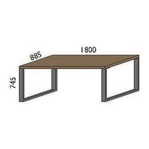 NORYA Dining Table (1.8m) in European Dark Oak TABTU01