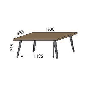 NORYA Dining Table (1.6m) in European Dark Oak TABTX05