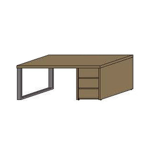NORYA Study Desk (1.8m) in European Dark Oak TABTS01