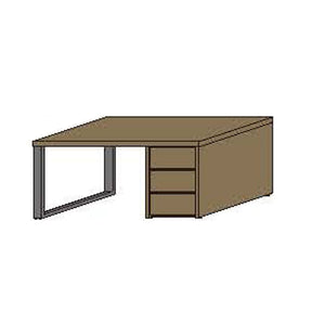 NORYA Study Desk (1.6m) in European Dark Oak TABTS03