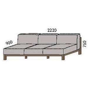 NORYA Sofa (2.2m) in European Dark Oak TSF073-C1Q
