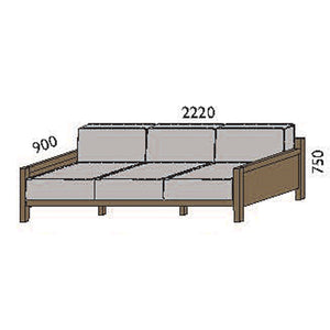 NORYA Sofa (2.2m) in European Dark Oak TSF073-CQ