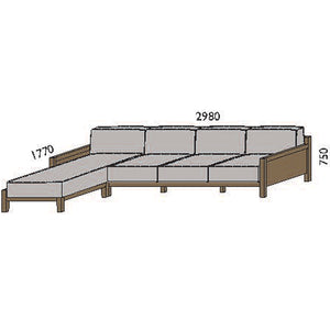 NORYA Sofa (2.9m) in European Dark Oak TSF073LQ
