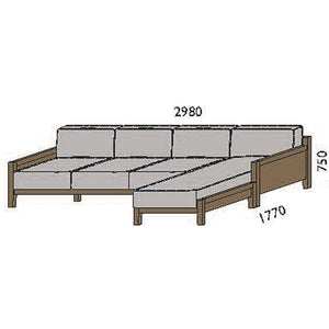 NORYA Sofa (2.9m) in European Dark Oak TSF073RQ