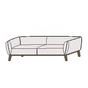 NORYA Sofa (2m) in European Dark Oak TSF601Q-C