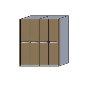 NORYA Four-Door Wardrobe in European Dark Oak TAW41801 - Picket&Rail
