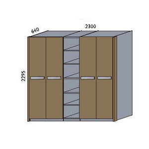 NORYA Four-Door Wardrobe in European Dark Oak TAW52302 - Picket&Rail
