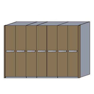 NORYA Seven-Door Wardrobe in European Dark Oak TAW73101
