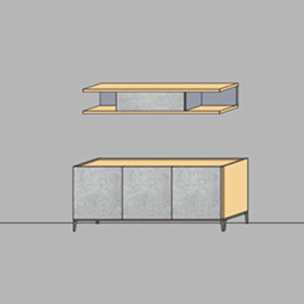 NORYA Sideboard Set (1.8m) in German White Oak XRRD-112A - Picket&Rail