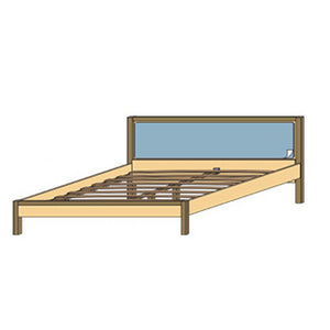 NORYA Bed (1.9m) in German White Oak XBM1A