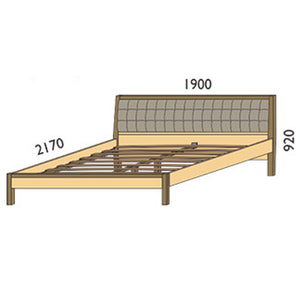 NORYA Bed (1.9m) in German White Oak XBM3A - Picket&Rail