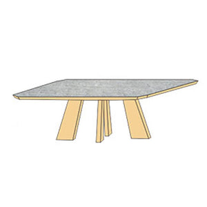 NORYA Dining Table (2m) in German WhiteOak XBTL01A