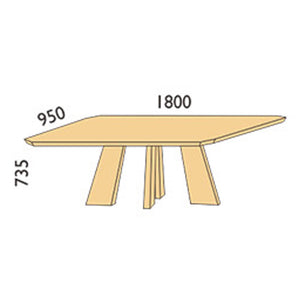 NORYA Dining Table (1.8m) in German White Oak XBTL02 - Picket&Rail