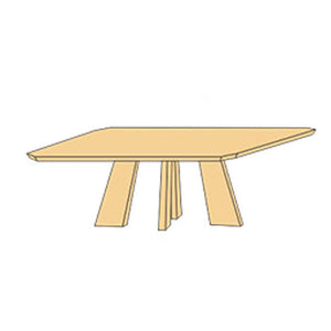 NORYA Dining Table (1.8m) in German White Oak XBTL02