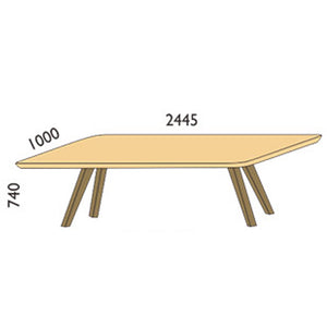 NORYA Dining Table (2.4m) in German White Oak XBTV01A