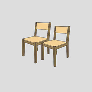 NORYA Dining Chair (0.4m) in German White Oak X6Z58-O