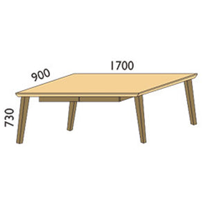NORYA Study Desk (1.7m) in German White Oak XBTS01