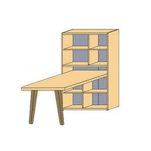 NORYA Study Lap (0.9m) in German White Oak XF70901D