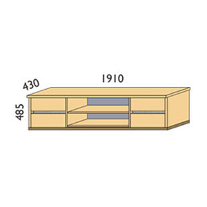 NORYA TV Cabinet in German White Oak XKT21907A