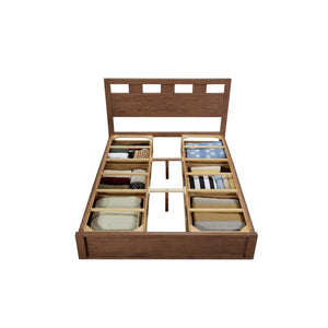 ASHTON Solid Wood Queen Storage Bed