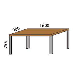 NORYA Dining Table (1.6m) in American Black Walnut KAZTL02A