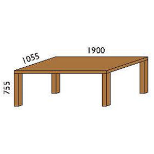 NORYA Dining Table (1.9m) in American Black Walnut KAZTM02 - Picket&Rail