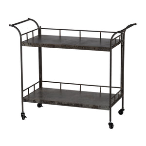 AB-FD43133  Quinby 2-Tier Decoartive Cart