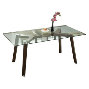 HARPER 1.5m Glasstop Dining Table