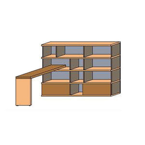 NORYA Bookcase With Lap (1.9m) KCF4501D