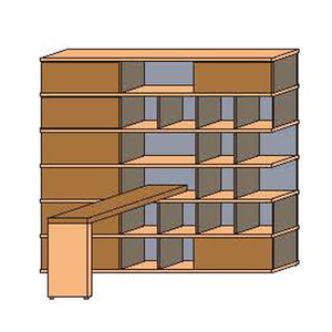 NORYA Bookcase With Lap (2.3m) KCF6601D